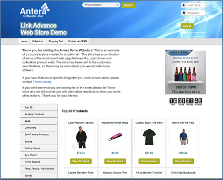 Antera Software Web Store